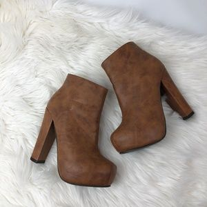 CALL IT SPRING platform ankle booties